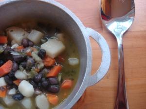 Criollo/Creole Black Bean Soup (Sopa de Frijoles Negros)