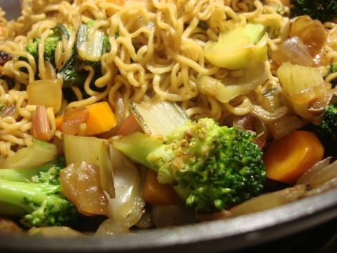 Soba noodles make a worthy (and fun) accompaniment to stir fry veggies
