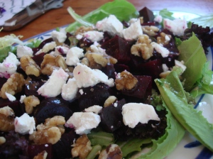 Roasted Beets with Feta and Walnuts