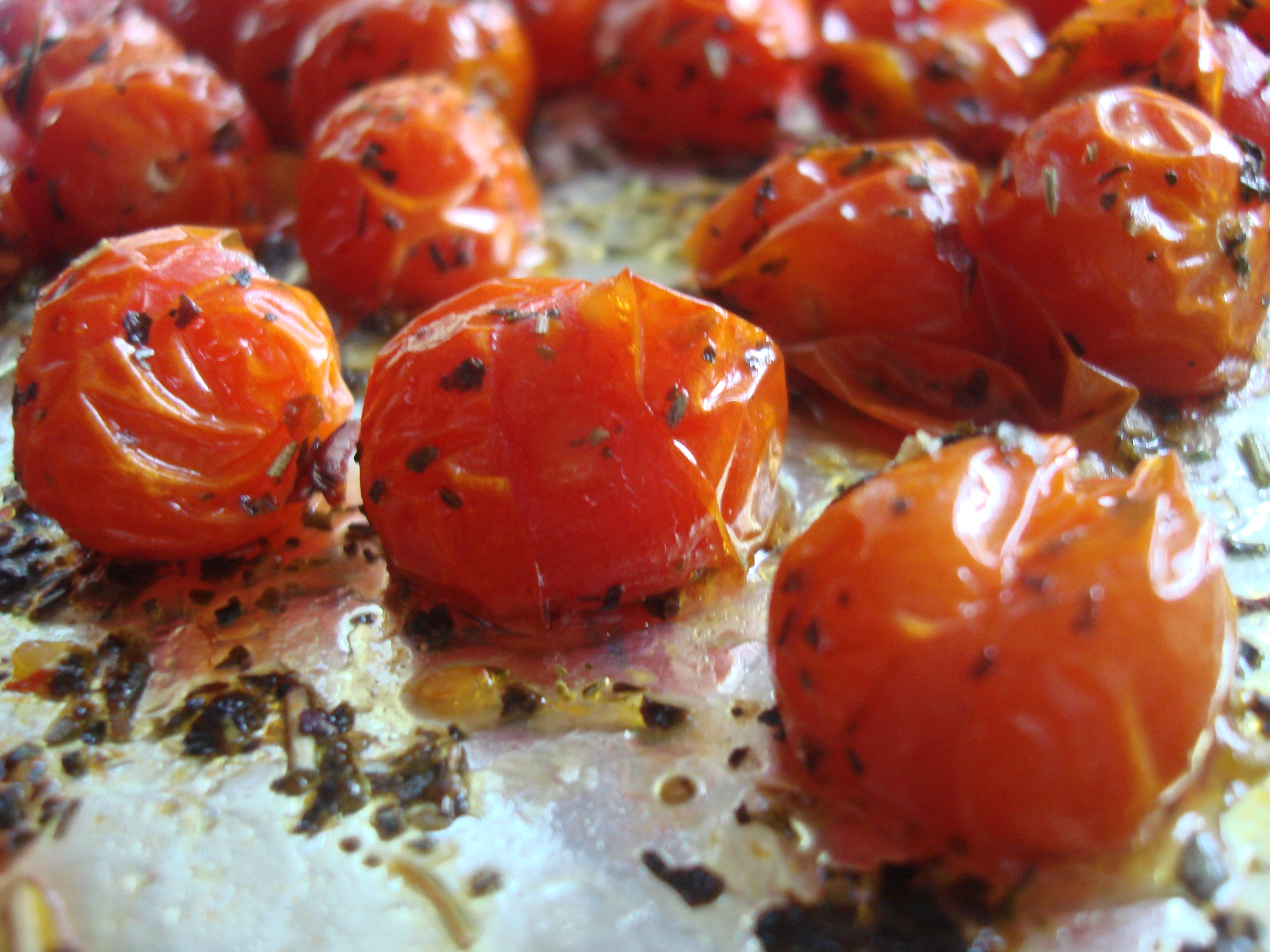Slow Roasted Grape Tomatoes For Pasta Bruschetta Or