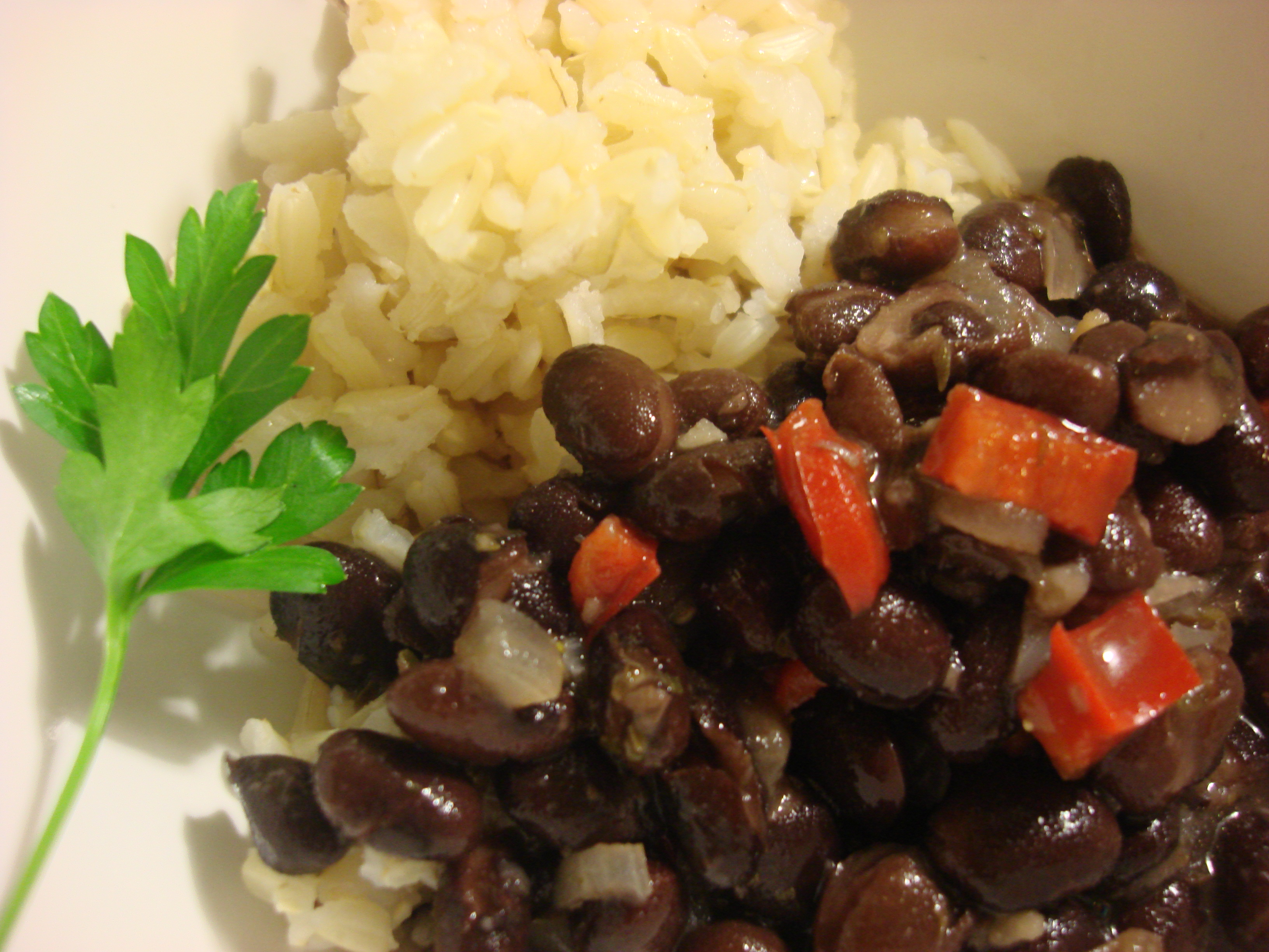 ... Spanish-Caribbean Black Beans (Frijoles Negros) and Perfect White Rice