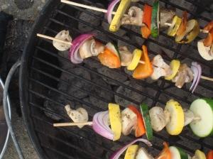 Veggie kebabs!