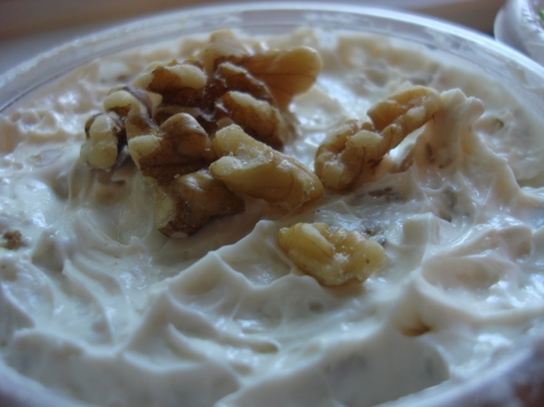 Maple-walnut cream cheese