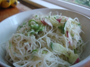 2012 June rice noodle salad