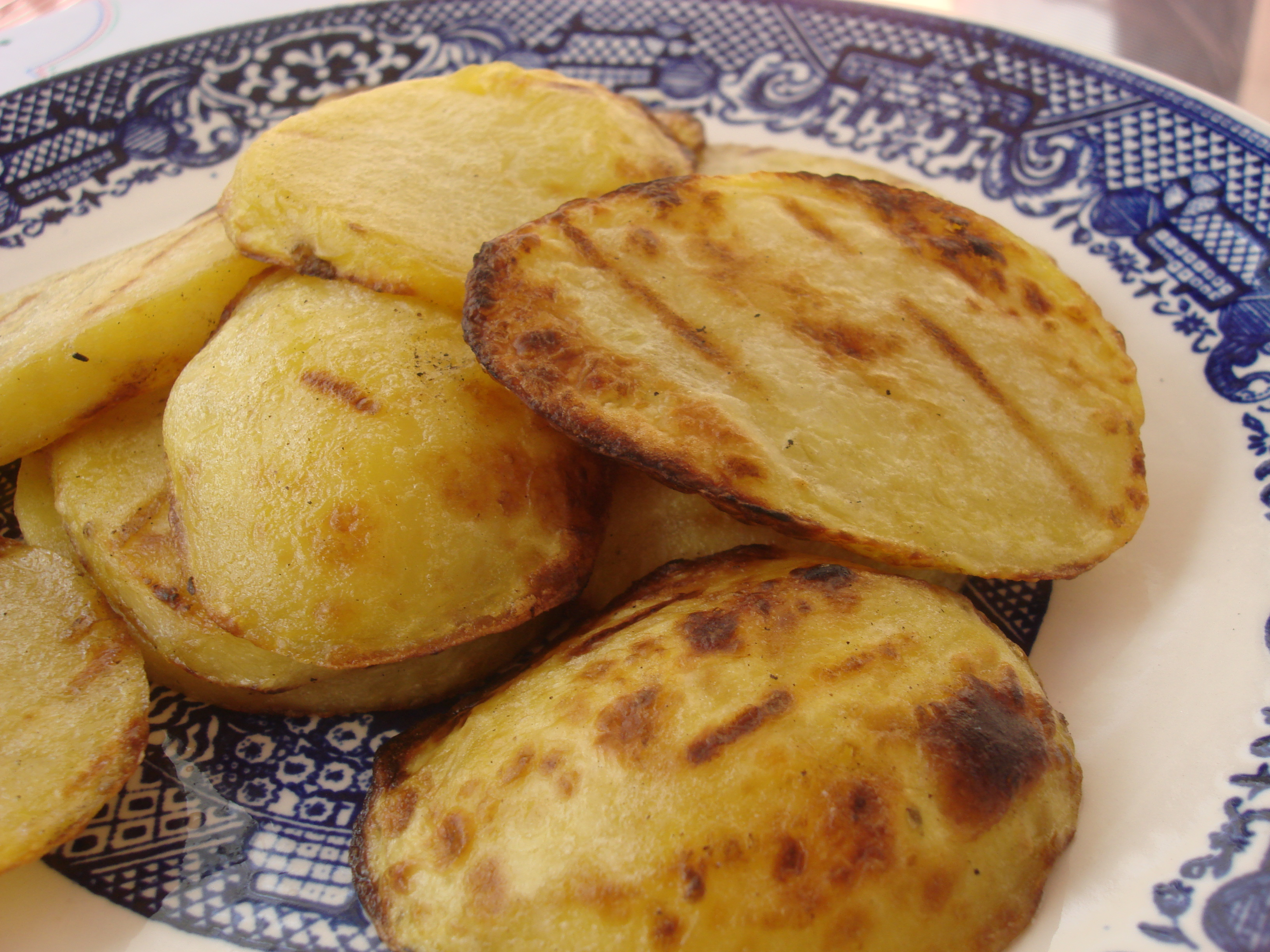 Grilled Potato Disks (Like fries, only better!) | Hot, Cheap & Easy