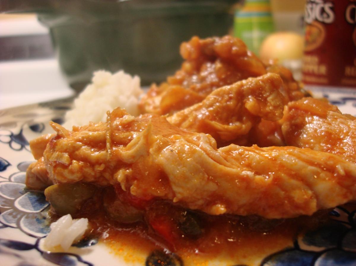 Chicken breasts in spicy creole sauce pechuga de pollo en - Pechuga d pollo en salsa ...