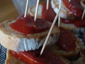 Chorizo on toast