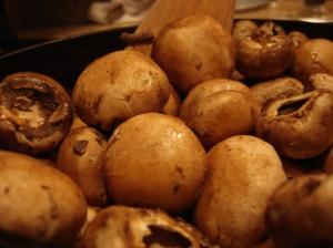 A tumble of mushrooms