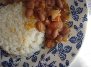 Arroz con habichuelas - Classic Rice and Pink Beans