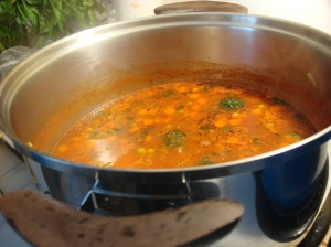 The vegan vegetable soup base