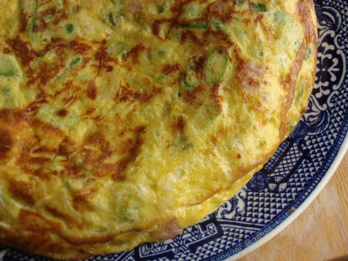 Tortilla with spring vegetables