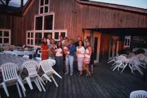 An end-of-season staff party in 2005