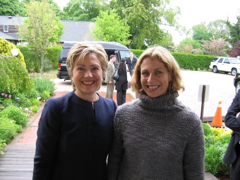 With then-Senator Hillary Clinton