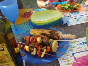 Bright and beautiful, these kebabs are sure to be a favorite of campers and grill-lovers!