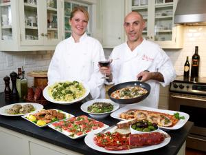 Kerriann and Sal, co-writers of Delectable Italian Dishes
