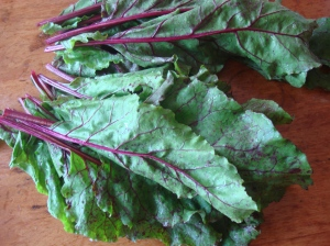 Beets are available year-round, but are best from June to October and that's when the beet greens are best too!