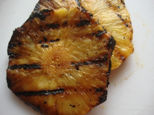 This is what pineapple looks like off the grill.