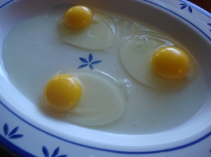 How pretty are these local eggs (from Makinajian Poultry Farm in East Northport area)