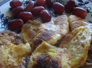 French toast croissants are pretty good without the apple too!
