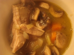 Luscious and velvety leftover turkey soup