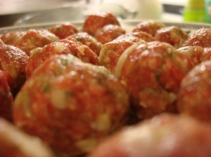Tiny little meatballs packed with cheesy-herby flavor....