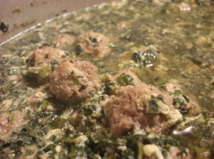 Packed with meatballs and greens, this is one of the best soups I have ever had!