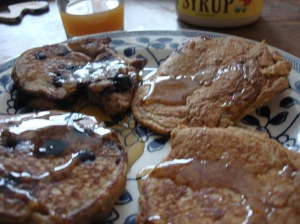 We like a bit of maple syrup on our pancakes. It adds umami...nice rich mouthfeel
