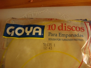 Entry-level empanadas...premade discs. Do not be ashamed! I am not.
