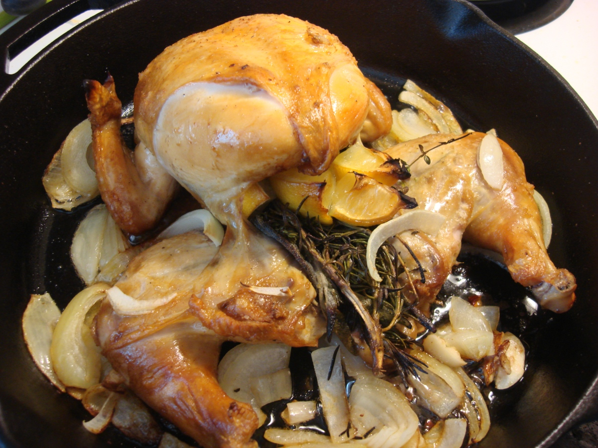 Splayed Roast Chicken Adapted From Melissa Clark Hot Cheap Amp Easy