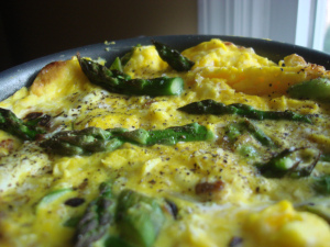 Frittata with Asparagus (duck or hen eggs) Click image for recipe!