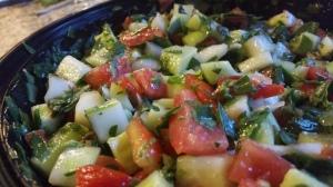 The salad was terrific!