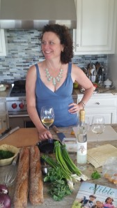 Eileen, my editor, stopped in before a wine class she was teaching! Pre-gaming with style