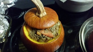 Stuffed pumpkin!