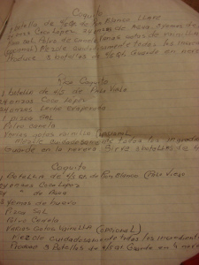 Recipes written by by late, great-aunt Titi Amida for my mother.