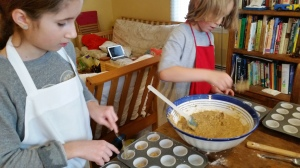 The muffins were not all exactly the same size, but that's part of the charm of home-made!