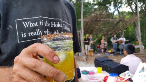 Farmer Dan keeps it sustainable with a reusable glass!